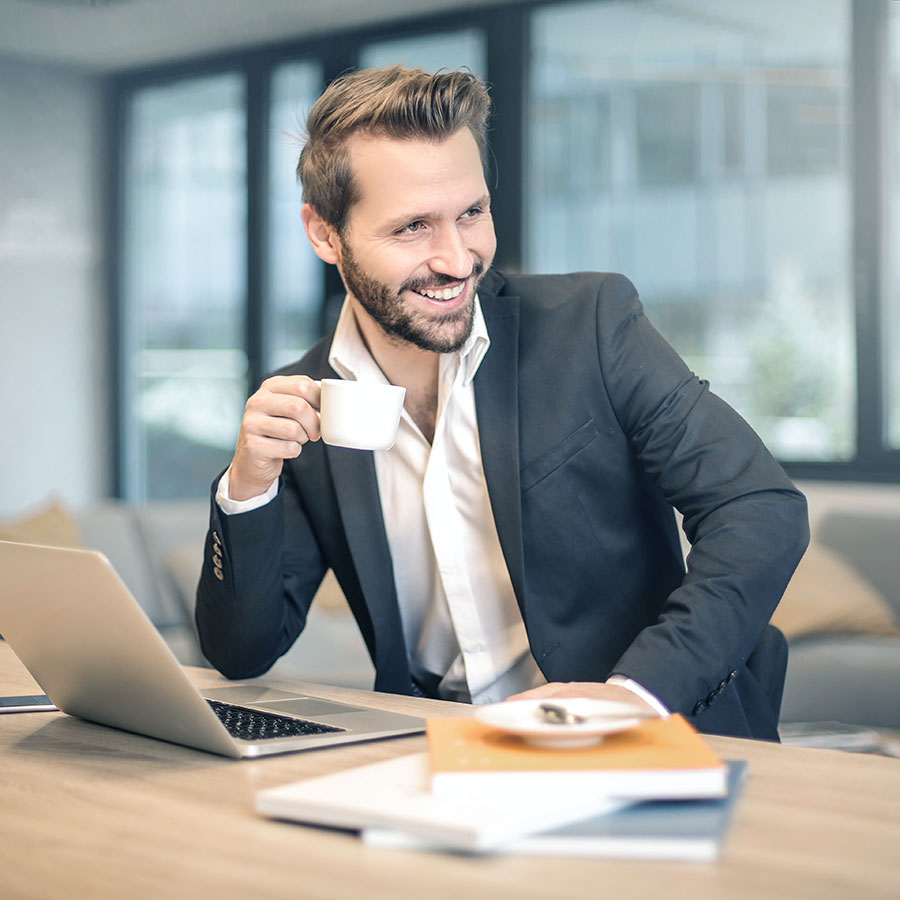 Man happy with datacenter