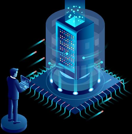 VPS-Virtual Private Server- Virtuelle Maschine-physischer Server